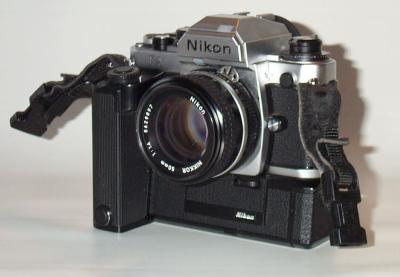 Nikon FA with MD15 and Nikkor 1.4/50mm